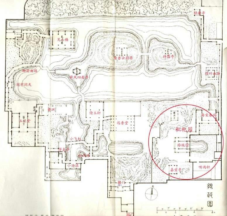 江南园林拙政园平面图纸图片欣赏下载